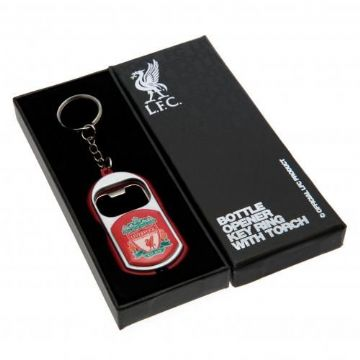 Liverpool FC Bottle Opener Keyring with Torch